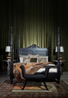 Discover a versatile collection of Bedroom Furniture and Accessories that gives a luxurious and elegant look to your dream bedroom. Visit THE One FUSION now! Bedroom Themes, Bedroom Decor, Bedroom Ideas, 4 Poster Beds, Bed Images, Inspire Me Home Decor, Headboards For Beds, Dream Bedroom, Bedroom Furniture