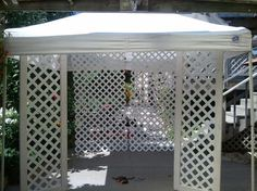 how to attach lattice to a tent for craft show - Google Search