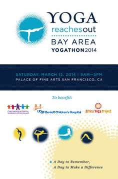 Booklet cover for Yoga Reaches Out Bay Area Yogathon