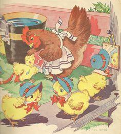 chicks get washed