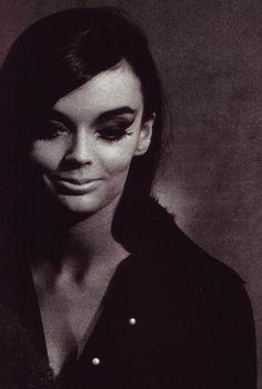 Barbara Steele by Tazio Secchiaroli on the set of 81/2.