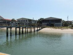 La Haina is a six-bedroom, two-bath channel-front home located 2.6 miles south of Garden City Pier and within one block of the beach.