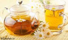 Chamomile tea چای بابونه ترکیبات: بابونه،۱قاشق غذاخوری. خواصّ: طبیعت آن، معتدل و در بابونه های صحرایی به سمت گرم و خشک است. ضدّ بلغم و صفرا و آرام بخش اعصاب، به ویژه اعصاب معده و روده و مقویّ آنها و شستشودهنده بسیارقوی کلیه ها و تقویت کننده کلّی سیستم عصبی است وعلاوه برآن، ضدّ تب، ضدّ انگل، ضدّ یبوست و اشتهاآور است.