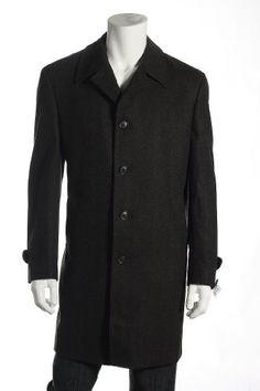 Lubiam Dark Brown Herringbone Top Coat $695