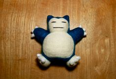 Needle Felted Snorlax by najmetender on Etsy https://www.etsy.com/ca/listing/182042189/needle-felted-snorlax