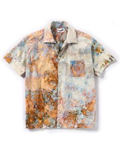 Louie Shirt in Ivory – riverside tool & dye Bleach Tie Dye, Tye Dye, Tie Dye Fashion, Diy Fashion, Fashion Goth, Batik Mode, Tie Dye Techniques, Tie Dye Shirts, Summer Shirts