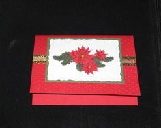 """Poinsettia """"Bells and Boughs,"""" Stampin Up"""