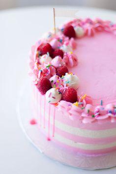 pink raspberry cake - coco cake land