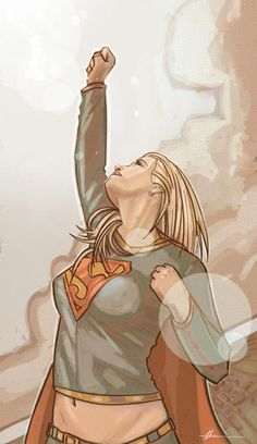 Supergirl by Patrick Thomas Parnell, signed 12X18 print