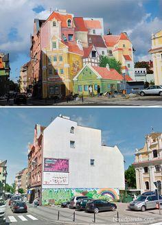 ¡Alucinante! Vea las increíbles transformaciones de ciudades con arte urbano
