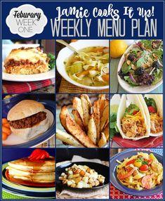 Menu Plan February Week #1
