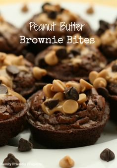 pin peanut butter brownie bites: This wonderful recipe for Peanut Butter Brownie Bites involves peanut butter and chocolate and it's honestly SO stinking easy that it's almost embarrassing to call it a recipe.