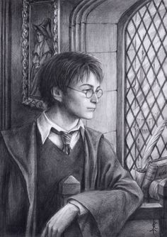 harry Potter pencil portrait - Harry Potter Fan Art (19637338 ...