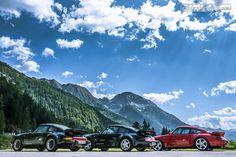 Drei Brüder auf Achse! Porsche 911 Turbo  © Dani Reinhard  #zwischengas #oldtimer #youngtimer #classiccar #classiccars #auto #car #cars #porsche Porsche 993, Portrait, Classic Cars, Mountains, Nature, Travel, Highlights, Retro, Medium