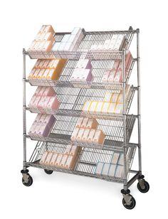 Slanted Shelving Unit...great for catheter cart or for keeping inventory! 800-400-7500 #MetroShelving