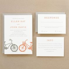 Printable Wedding Invitation Template | INSTANT DOWNLOAD | Bicycles | Word or Pages Mac & PC | 5x7 | Any Colors