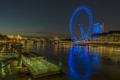http://www.printedart.com/content/london-eye-night  Richard Silver: London Eye at Night  Available with acrylic finish for a float-on-the-wall display in sizes up to 90 x 60 inches.