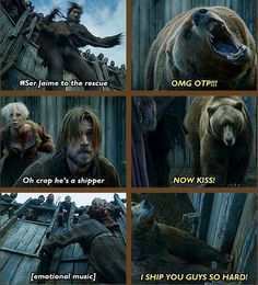 Jaime and Brienne forever. this bear is me