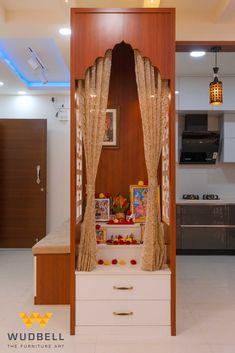 Pooja Room Door Design, Bedroom Door Design, Small House Interior Design, House Design, Best Home Design Software, Indian Bedroom Decor, Temple Design For Home, Puja Room, Easy Home Decor