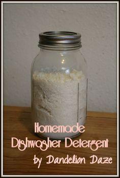 Homemade Dishwasher Detergent by www.dandeliondaze.wordpress.com