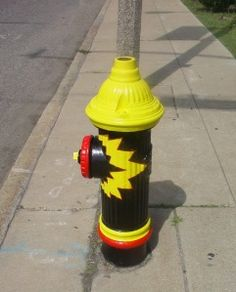 Pow! Painted Fire Hydrant