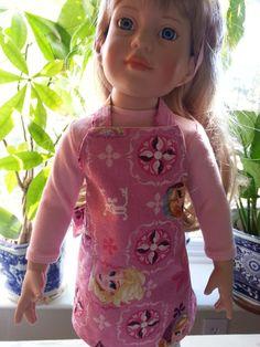 "18"" American Girl Doll Pink Frozen Apron Original Handmade USA Arvilla Ruby"