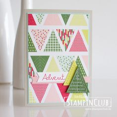 Weihnachtsquilt, Stampin Up! Card Crafts, Paper Crafts, Holiday Cards, Christmas Cards, Stampin Up Weihnachten, Washi Tape Crafts, Sewing Cards, Stampin Up Christmas, Stamping Up Cards