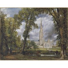 Salisbury Cathedral from the Bishop's Ground, 1823, oil on canvas. © Victoria and Albert Museum, London