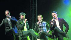 Hielten immer die Balance: Jan-Malte Bürger (von links), Lukas Teske, Sebastian Schröder und Oliver Gies von der A-cappella-Formation Maybebop. Foto: Socher