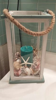 Marine/beach theme for the guest bathroom. This should be easy enough to make right?