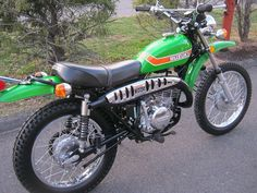 This is the bike my dad had when I was a kid. I remember vividly the time he rode it in the bottom of an empty irrigation canal and he had to try and try to eventually get it back up the steep canal bank.
