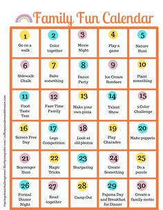 30 Days of Family Fun
