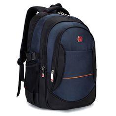 Men Backpacks 2017 New Nylon School Bags for Teenagers Large Capacity Women  Travel Knapsacks Men s 15.6 inch Laptop Backpacks-in Backpacks from Luggage  ... 86612c9c66072