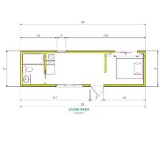Tortoise Shell floor plan for an 8x32...no lofts and no steps/ladders, but very l-o-n-g!