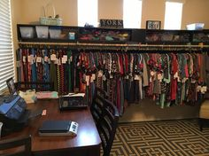 My friend Tanya is showing us her LuLaRoom! Be sure to join her LuLaRoe Group. I like posting about LLR because many of my friends are reps, and I know it Industrial Kitchen Island, Industrial House, Industrial Closet, Industrial Lighting, Lula Roe, Vintage Shop Display, Clothing Store Displays, Clothing Racks, Boutique Decor