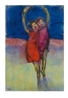 FREUDE By Emil Nolde ,1945
