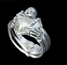 Skull Claddagh Ring. | This is the most unique, badass claddagh ring I've ever seen! I HAVE A MIGHTY NEED.