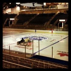 The ice at Ricoh Coliseum