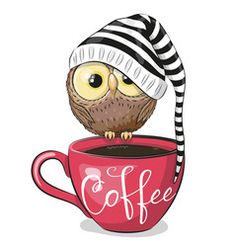 good coffee Cartoon owl is sitting on a cup coffee vector Cartoon owl is sitting on a cup coffee vector I Love Coffee, My Coffee, Coffee Cup Art, Coffee Vector, Owl Cartoon, Owl Art, Cute Owl, Coffee Humor, Art Drawings