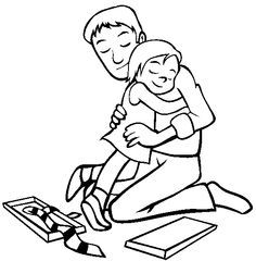 Image result for father daughter drawing Father's Day Drawings, Hugging Drawing, Fathers Day Coloring Page, My Father, Father Daughter, Free Gifts, Gifts For Dad, Fathers Day Poems, Fathers Day Gifts