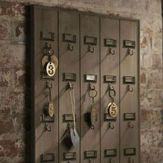 Vintage inspired Hotel Key Rack is recycled wood with brass hooks for all your keys in one place is perfect for the home or office.