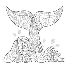 Click for free adult happiness coloring pages. Check out the Fantasy Whale coloring page. Don't buy into the hype when you can download your own unique adult coloring book here for free.
