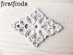 2 Diamond Backplates Shabby Chic White DIstressed Black Drawer Hardware Painted Cabinet Door Pulls Cottage Decor Cupboard ITEM DETAILS BELOW by Firstfinds on Etsy https://www.etsy.com/listing/273457928/2-diamond-backplates-shabby-chic-white