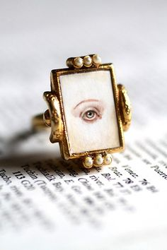 Lover's Eye Candy ring  original cameo by Mab Graves by mab graves, via Flickr