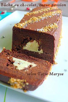 Recette de la bûche chocolat passion