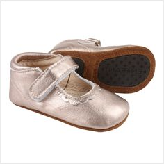 As sweet as they come. Cute Ballerina with velcro close and 100% leather and nonslip sole. The snug fit...