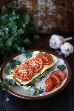 Marinated Zucchini and Tomato Lasagna with Cashew Herb Cheese #raw #vegan