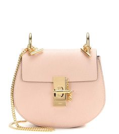Chloé Drew Mini leather shoulder bag in the blush pink color that we love! Get it now on ShopStyle!