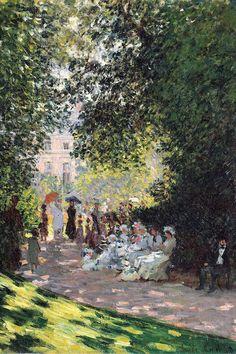 The Parc Monceau, 1878 Canvas Art by Claude Monet - Art Painting Monet Wallpaper, Painting Wallpaper, Monet Paintings, Impressionist Paintings, Monet Poster, Impressionism Art, Famous Art, Paul Gauguin, Renoir