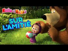 Masha et Michka 👱♀️🐻 Sur l'amitié 🐰🐺 Pause musicale 🎼 - YouTube Animation, Netflix Movies, Music For Kids, Film, Teddy Bear, Toys, Animals, Cartoons, French